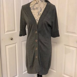 Grey Button Down Cardigan Banana Republic